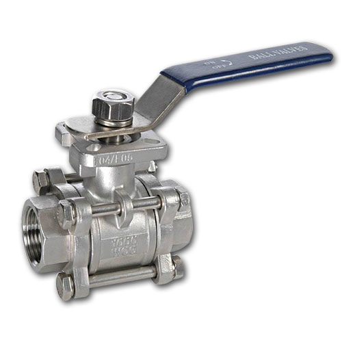 ANSI Thread End ISO Derect Mounting Pad Ball Valve 3PC